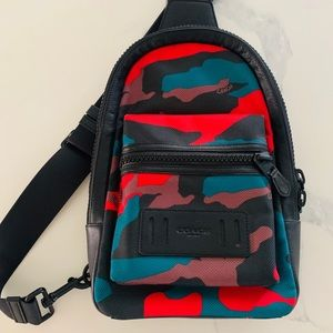COACH MATTE BLACK/BLACK/RED CAMO PACK IN